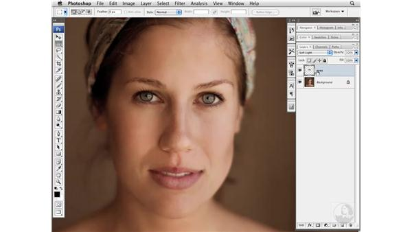 Sharpening eyes with High Pass: Photoshop CS3 Portrait Retouching Essentials