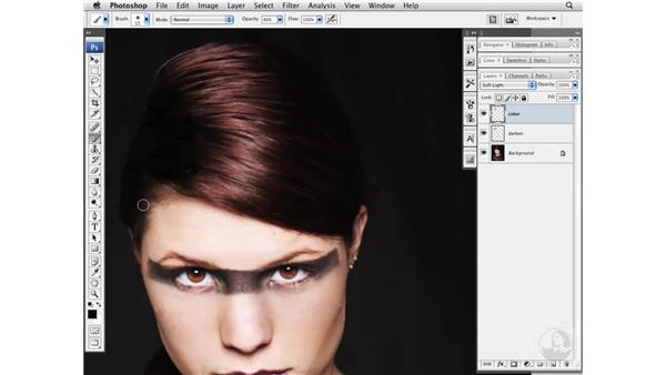 Fixing roots and hair color: Photoshop CS3 Portrait Retouching Essentials