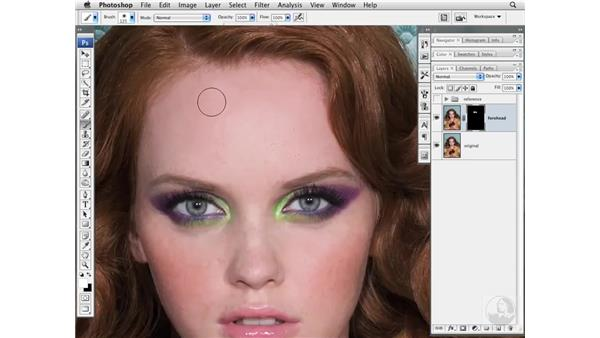 Removing stray hairs: Photoshop CS3 Portrait Retouching Essentials