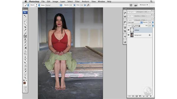 Enhancing body shape with shadows: Photoshop CS3 Portrait Retouching Essentials