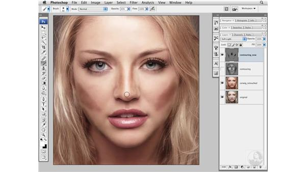 Enhancing faces with shadows and highlights: Photoshop CS3 Portrait Retouching Essentials