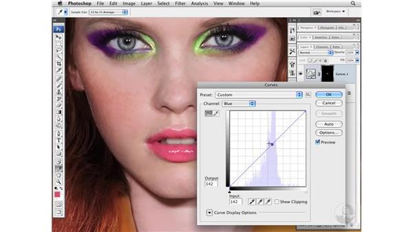 Enhancing lip color and tone: Photoshop CS3 Portrait Retouching Essentials