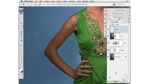Thinning arms: Photoshop CS3 Portrait Retouching Essentials