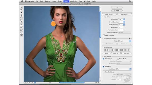 Enhancing body shape : Photoshop CS3 Portrait Retouching Essentials