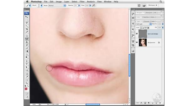 Changing the shape of lips: Photoshop CS3 Portrait Retouching Essentials