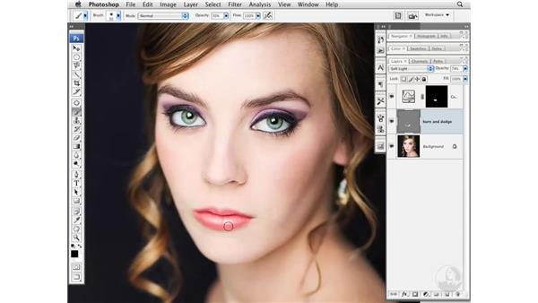 Modifying makeup color: Photoshop CS3 Portrait Retouching Essentials