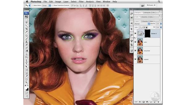 Makeup color enhancement with LAB: Photoshop CS3 Portrait Retouching Essentials