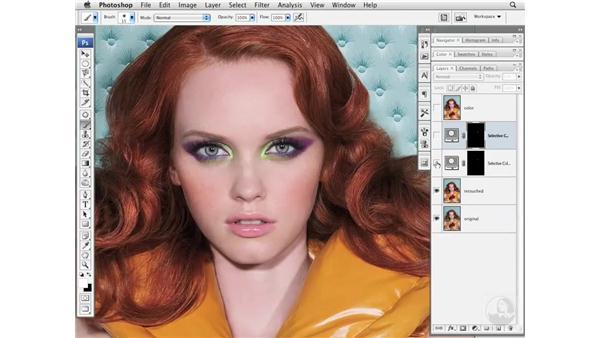 Makeup color enhancement with Adjustment Layers: Photoshop CS3 Portrait Retouching Essentials
