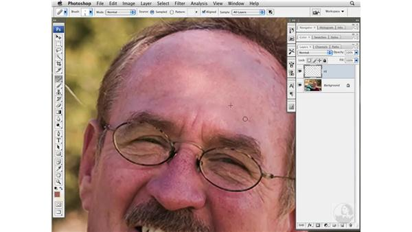 Reducing skin variation with the Healing Brush: Photoshop CS3 Portrait Retouching Essentials
