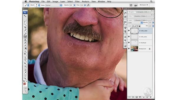 Deemphasizing skin variation: Photoshop CS3 Portrait Retouching Essentials