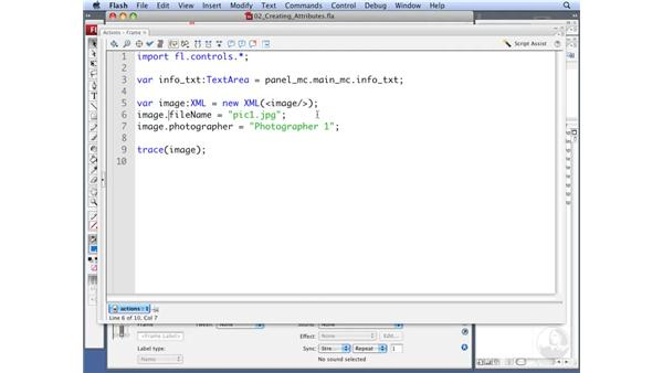 Working with XML attributes using E4X: ActionScript 3.0: Working with XML