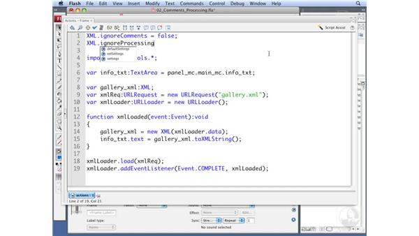 Working with comments and processing instructions: ActionScript 3.0: Working with XML