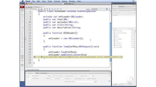 Building the RSSReader class: ActionScript 3.0: Working with XML