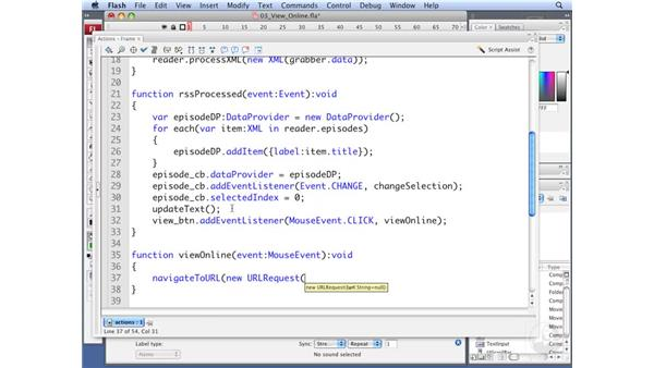 Linking to an online blog: ActionScript 3.0: Working with XML