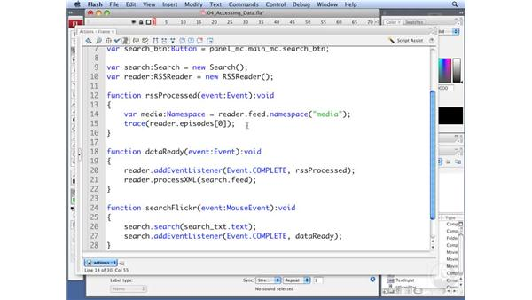 Accessing namespace qualified data: ActionScript 3.0: Working with XML