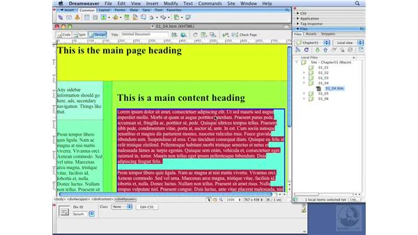 Understanding Dreamweaver's CSS visual aides: Dreamweaver CS3 with CSS Essential Training
