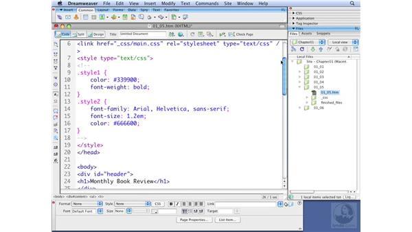 Creating default styles: Dreamweaver CS3 with CSS Essential Training