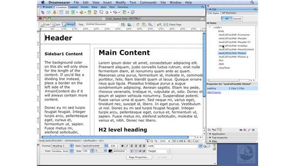 Modifying CSS globally: Dreamweaver CS3 with CSS Essential Training