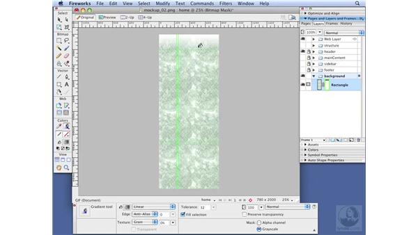 Creating the initial layout: Dreamweaver CS3 with CSS Essential Training