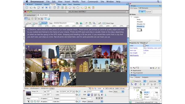 Reviewing normal document flow: Dreamweaver CS3 with CSS Essential Training