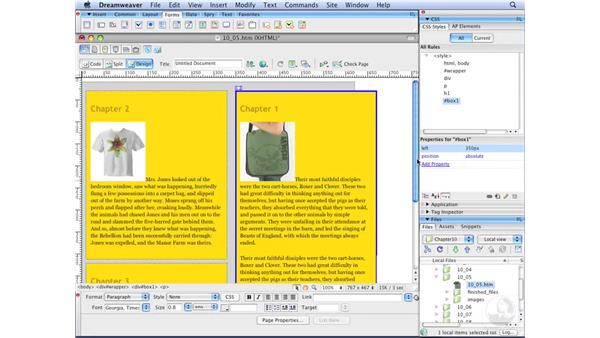 Understanding absolute positioning : Dreamweaver CS3 with CSS Essential Training