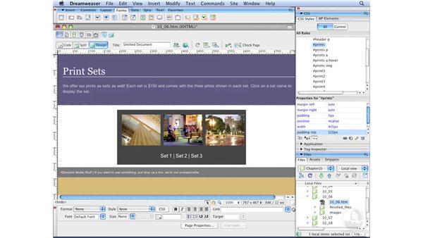 Understanding the AP Elements panel: Dreamweaver CS3 with CSS Essential Training