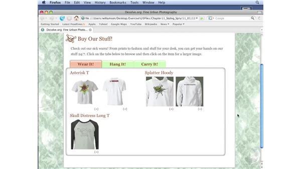Introducing Spry widgets: Dreamweaver CS3 with CSS Essential Training