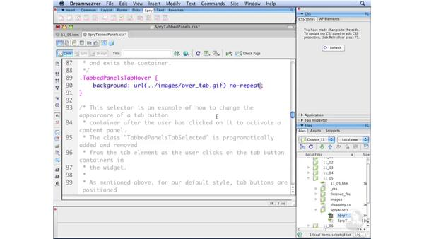Styling Spry widgets: Dreamweaver CS3 with CSS Essential Training