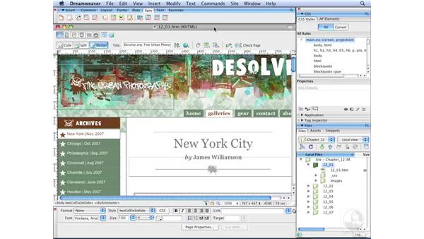 Creating print style sheets: Dreamweaver CS3 with CSS Essential Training