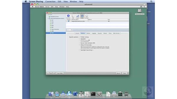 Configuring Web Options: Mac OS X Server 10.5 Leopard Essential Training