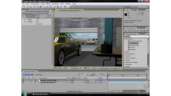 Depth Matte effect: After Effects CS3 Effects