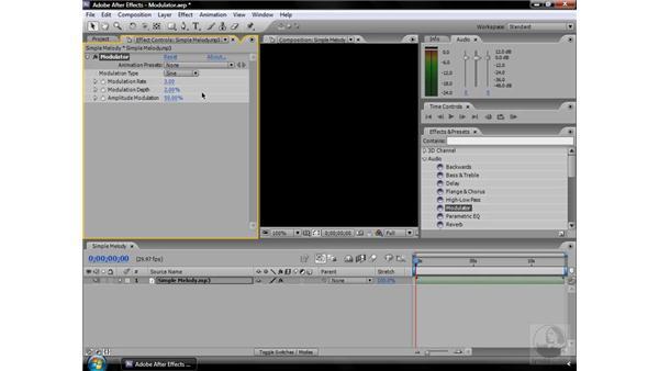 Modulator effect: After Effects CS3 Effects