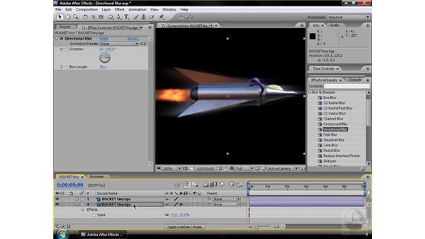 Directional Blur effect: After Effects CS3 Effects