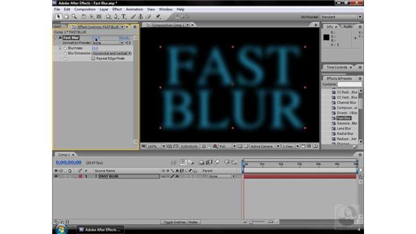 Fast Blur effect: After Effects CS3 Effects