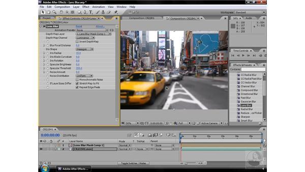 Lens Blur effect: After Effects CS3 Effects