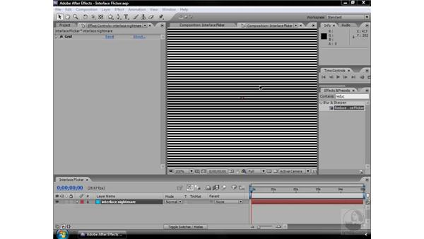 Reduce Interlace Flicker effect: After Effects CS3 Effects