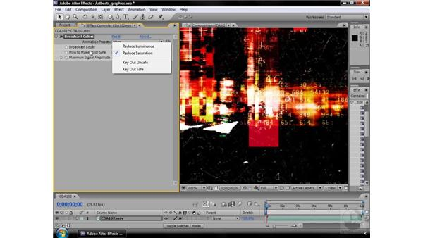 Broadcast Colors effect: After Effects CS3 Effects