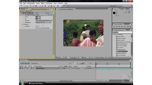 Change to Color effect: After Effects CS3 Effects