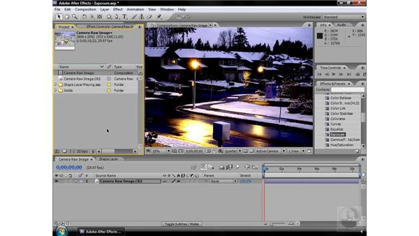 Exposure effect: After Effects CS3 Effects