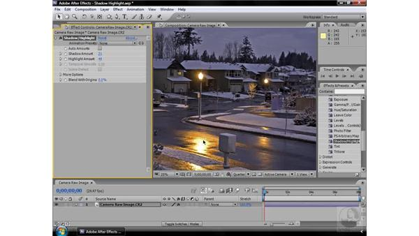 Shadow/Highlight effect: After Effects CS3 Effects
