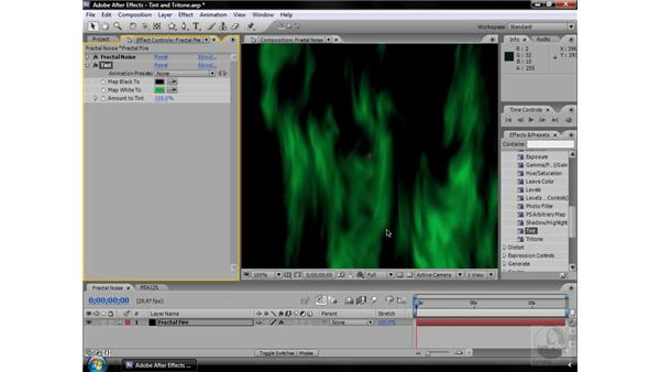 Tint effect: After Effects CS3 Effects