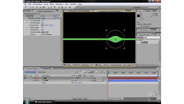 Bulge effect: After Effects CS3 Effects