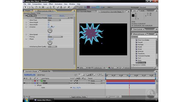 Wave Warp effect: After Effects CS3 Effects