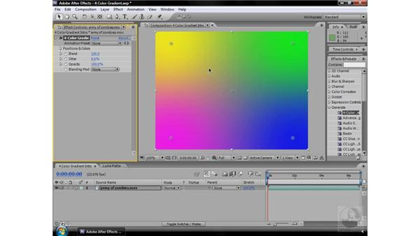 4-Color Gradient effect: After Effects CS3 Effects