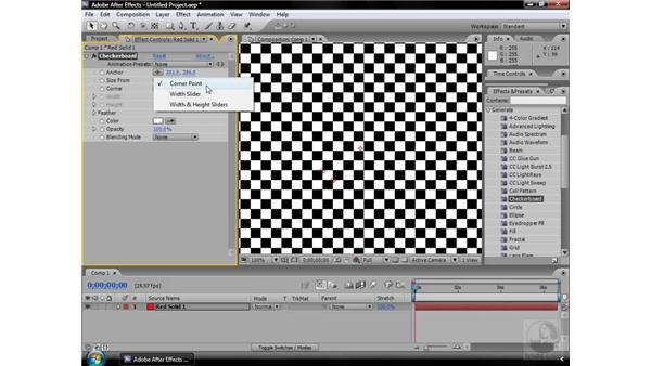 Checkerboard effect: After Effects CS3 Effects