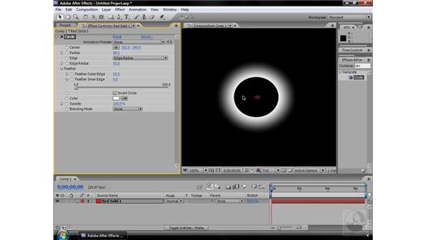 Circle effect: After Effects CS3 Effects