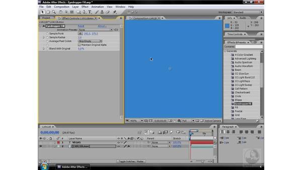 Eyedropper Fill effect: After Effects CS3 Effects
