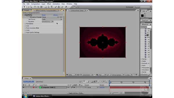 Fractal effect: After Effects CS3 Effects