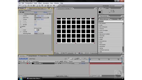 Grid effect: After Effects CS3 Effects