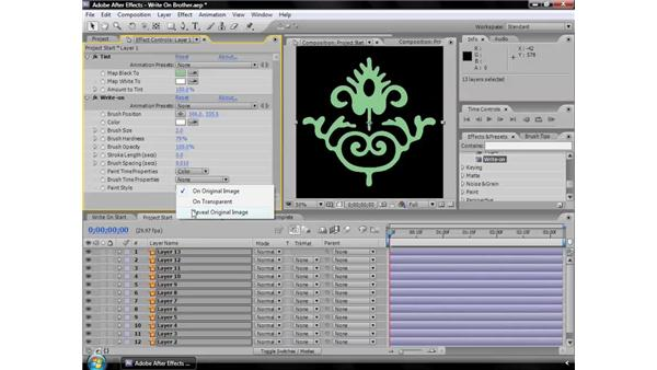 Write-on effect: After Effects CS3 Effects